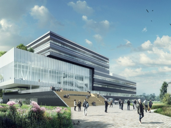 Nieuwbouw Center Court op de Brightlands Chemelot Campus, Sittard-Geleen